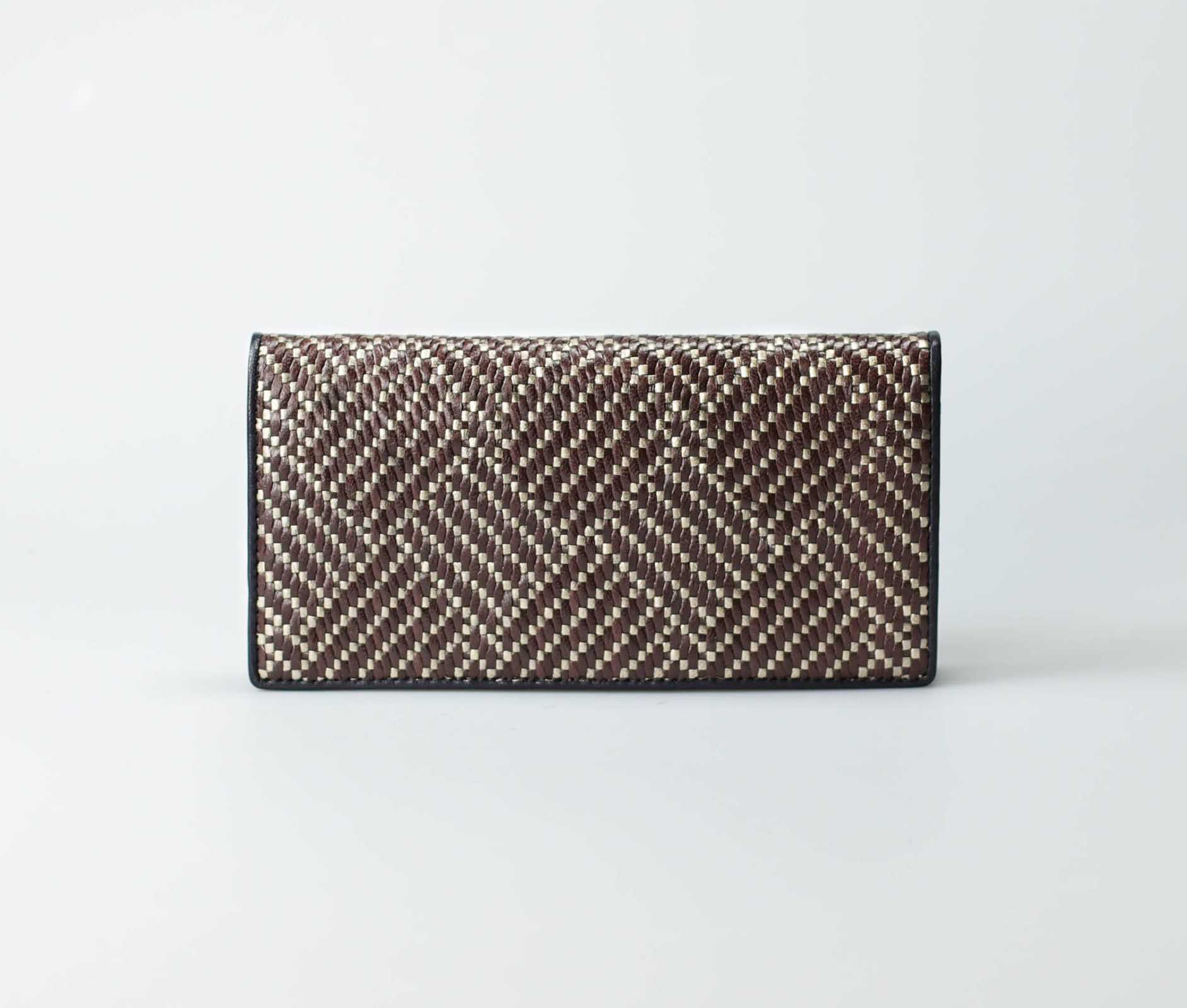 brown-women-diagonal-weave-long-wallet-dinlida-tresse-1