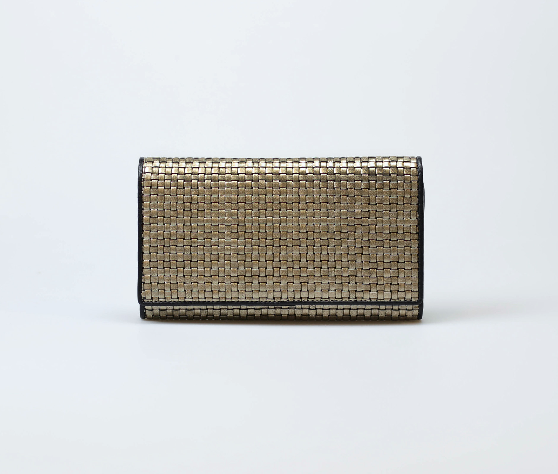 gold-metallic-women-classic-weave-long-trifold-wallet-orimono-tresse-1
