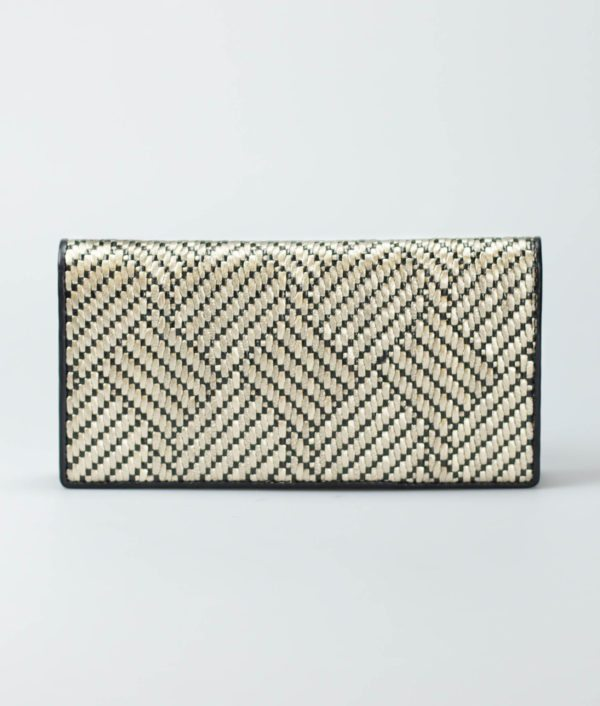 weave leather purse