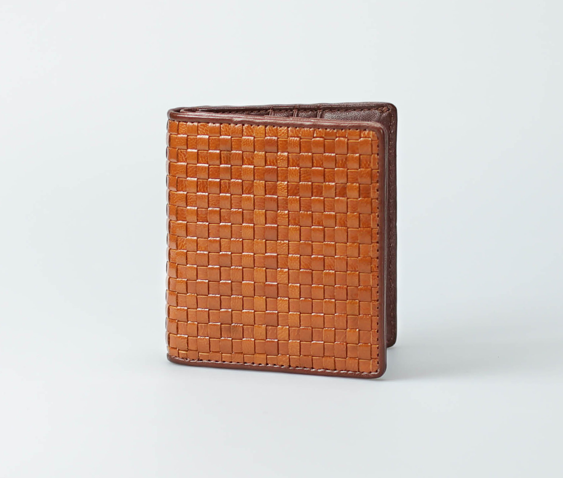 Verical Woven Leather Wallet